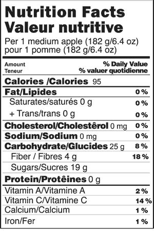 apple nutrition facts grāpple 174 nutrition information grāpple 174 brand apples