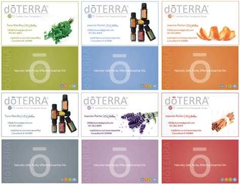 the image foundry doterra business cards - Doterra Gift Card