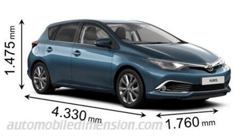 toyota dimensions dimensions des voitures toyota longueur x largeur x hauteur