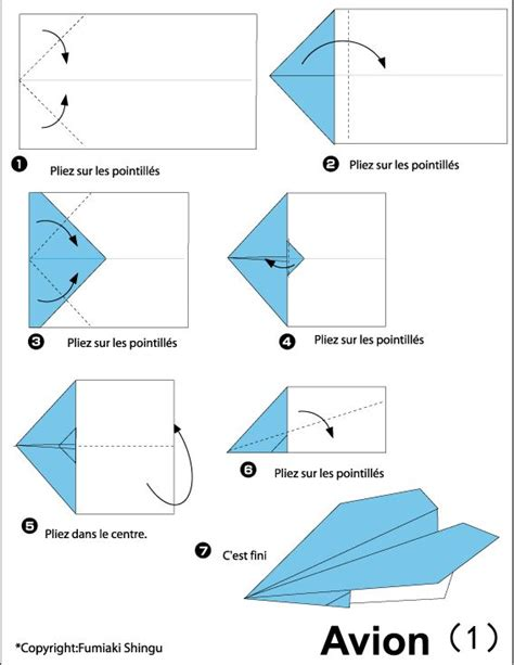 Origami Avion - 25 best ideas about avion en papier facile on