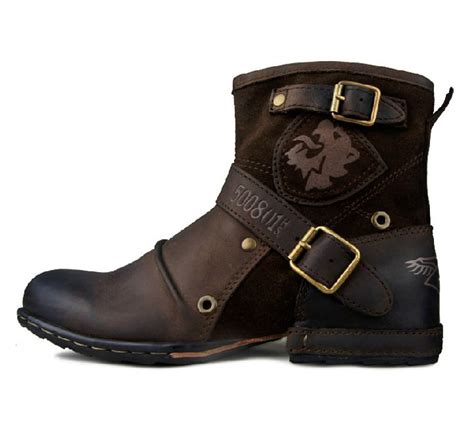 mens leather boots with buckles boot 2017