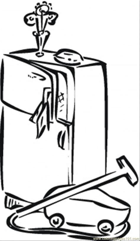coloring pages vacuum cleaner free coloring pages of fridge