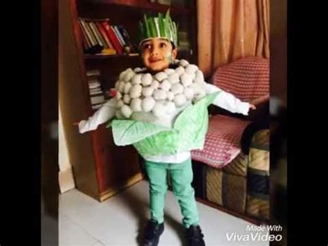 diy fancy dress idea cauliflower youtube