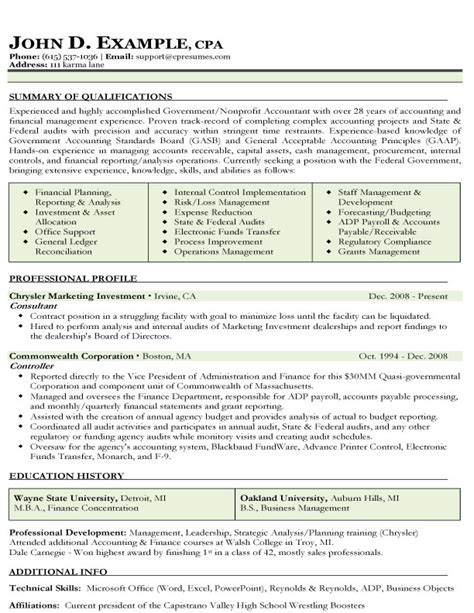 Accounting Resume by Accountant L Picture Accountant Resume