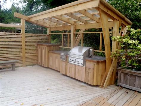 outdoor kitchen with shelter outdoor kitchen