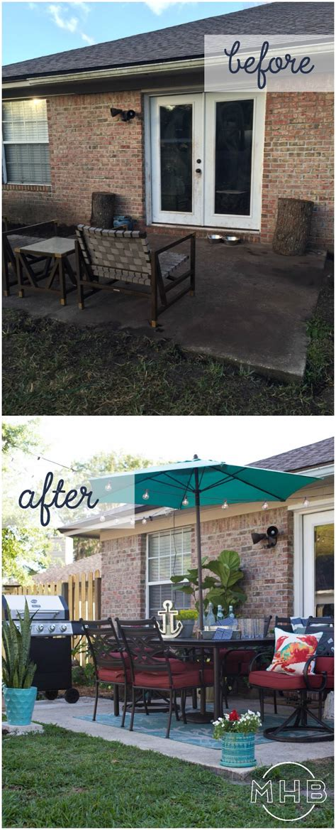 backyard makeover before and after achievable outdoor living space complete patio makeover