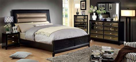 black panel bedroom set golva black panel bedroom set from furniture of america