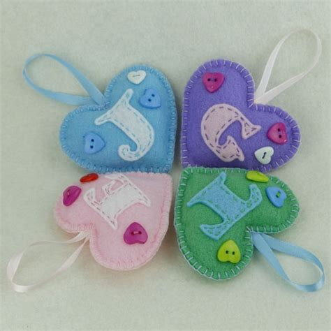 Handmade Felt Gifts - personalised felt gifts feltdecorations co uk handmade