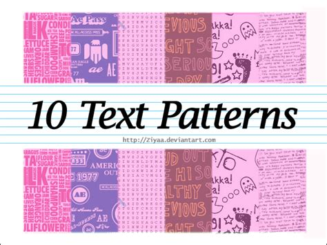 photoshop use pattern for text text patterns 10 by ziyaa on deviantart