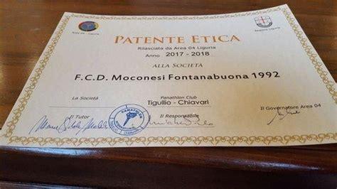 etica genova la patente etica panathlon chiavari al moconesi
