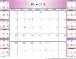 Marzo Calendario Calendario Marzo 2016 Para Imprimir Calendarios Para