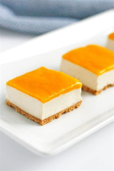 Mango Cheesecake vegan mango cheesecake bars recipe well vegan