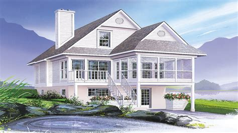 coastal cottage house plan flyer for coastal