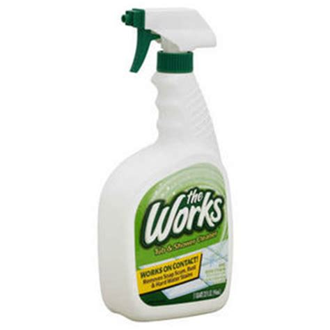 works bathroom cleaner the works tub and shower cleaner 3381 reviews viewpoints com