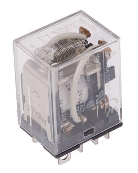 Omron General Relay Ly2 Dc 24v ly2 24dc dpdt in non latching relay tab 24v dc omron