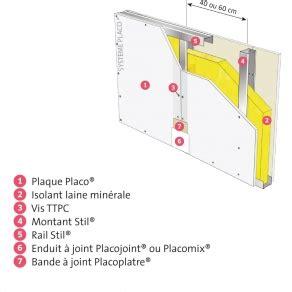 Plaque De Placo Phonique 3875 by Cloison Placostil 174 98 48 Avec 1 Plaque Placo 174 Phonique Ba