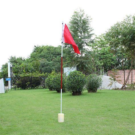 red golf flag  backyard practice golf hole pole