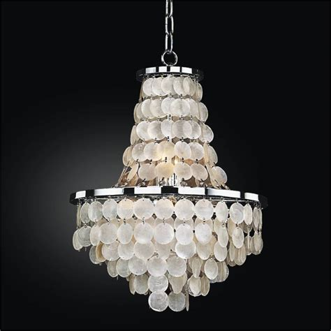 capiz shells chandelier 20th century capiz shell