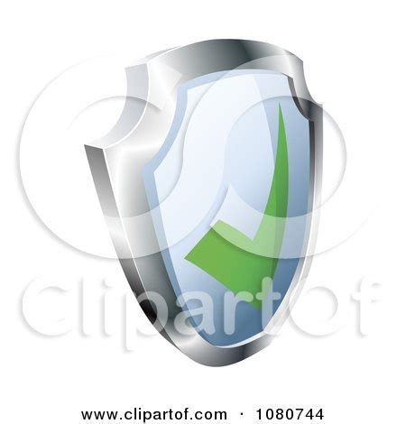 clipart of a 3d green check mark and red cross royalty