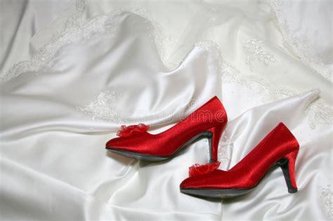 wedding rote schuhe stockbild bild hochzeit