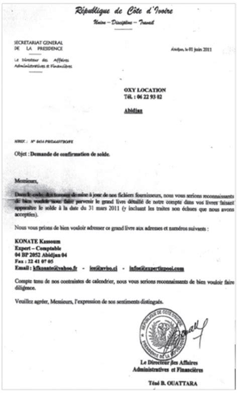 Demande De Confirmation Lettre Affaire Madjara Ouattara Regards Croises Le De Fernand Dind 233
