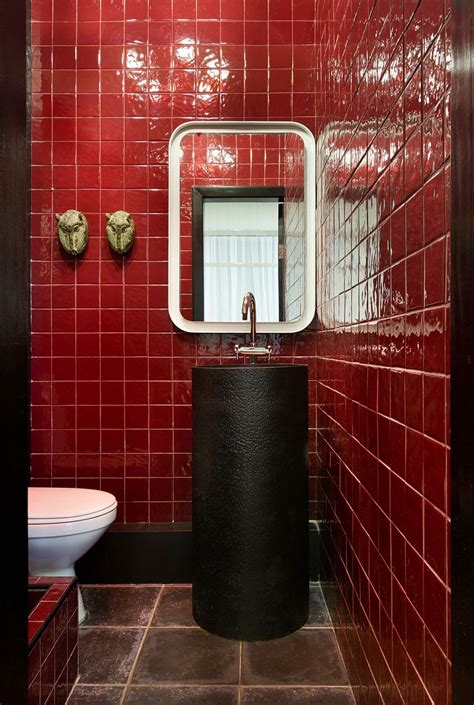 black red bathroom house of ideas incredible fusion of art sculpture and