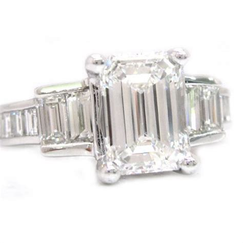 emerald cut engagement ring 2 40ctw knrinc