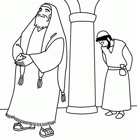 Pharisee And Tax Collector Coloring Page free coloring pages of pharisee publican