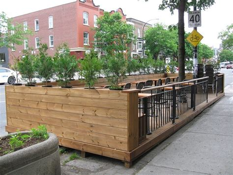 restaurant patio planters cool planters installed in box outdoor spaces