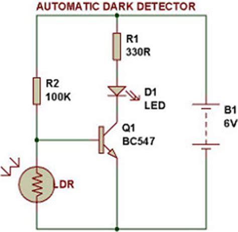 dark/light sensor using transistor | buildcircuit