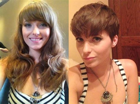 before and after haircut makeovers 1661 best short hair makeovers images on pinterest short
