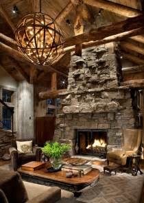 Rustic Home Interior by Rustic Ski Lodge Home Bunch Interior Design Ideas
