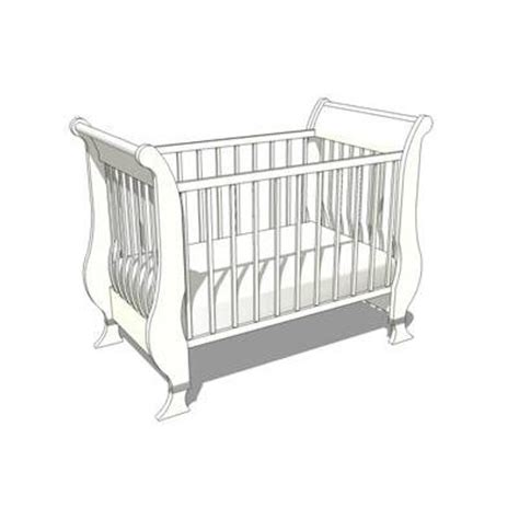 Used White Crib by Sleigh Crib 3d Model Formfonts 3d Models Textures