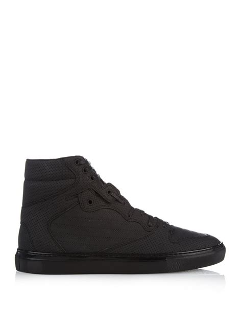 All Black Balenciaga balenciaga monochrome high top sneakers in black for lyst