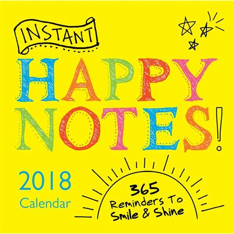 2018 instant happy notes sourcebooks instant happy notes 2018 desk calendar calendar buy