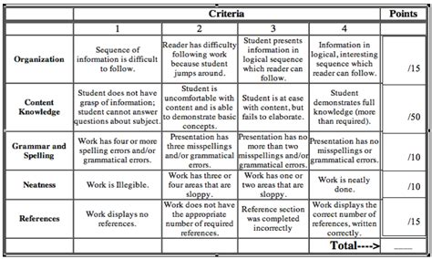 Rubric Template For Geography Reports Rubric For Essay Honor S Geography