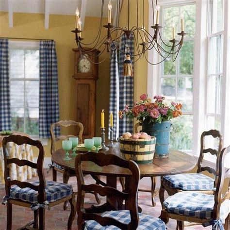 blue  gold country dining room french country