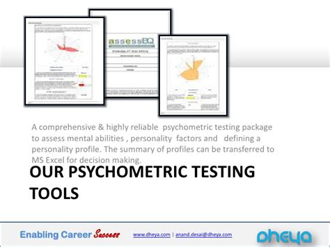 Psychometric Test For Mba Students by Enabling Career Success Management Students