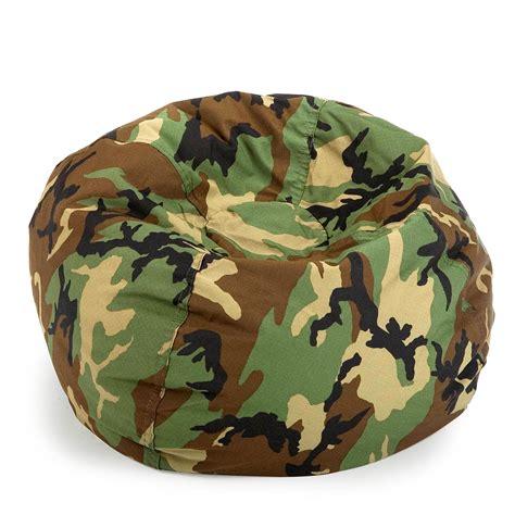 Camo Bean Bag Chair by Ace Bayou Small Twill Camouflage Lounger Bean Bag Chair