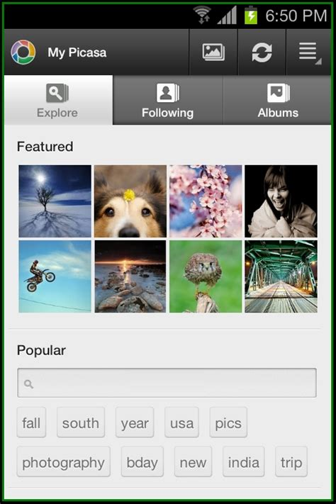picasa android how to upload photos to picasa web service from android device android advices