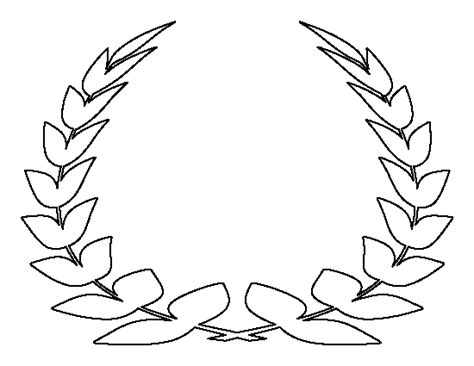 laurel leaf crown template laurel leaf crown pattern use the printable outline for