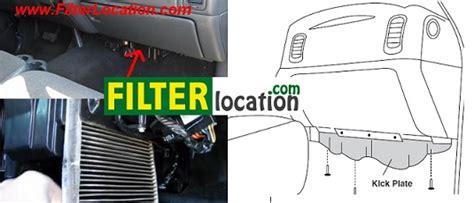 2004 Chevy Silverado Cabin Air Filter Location chevrolet silverado cabin air filter location