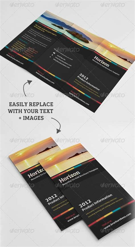 graphicriver brochure template graphicriver horizon tri fold brochure template avaxhome