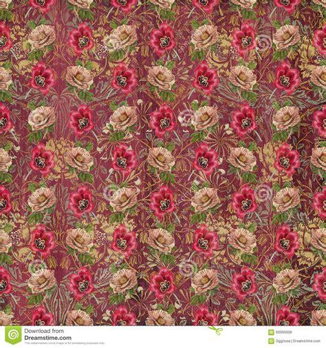 Tapisserie Fleur by Vieux Papier Peint De Fleur De Tapisserie De Vintage