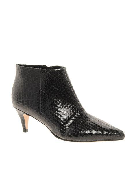 carvela kurt geiger stripy snake print low heel shoe boots