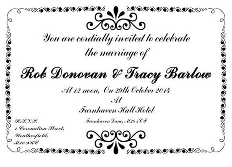 we would like to invite you celebrate our wedding in coronation on quot you are cordially invited to celebrate the marriage of rob