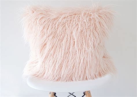 blush pink fur chair freshen up your home decor with blush pink accents