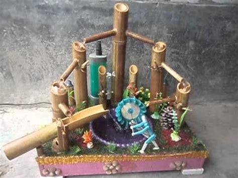 Air Mancur Mini Mini Landscape Model air mancur bambu