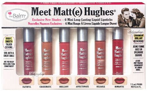 The Balm Meet Matt E Hughes Mini Eceran Lipgloss Matte Ori the balm meet matt e hughes 6 mini lasting