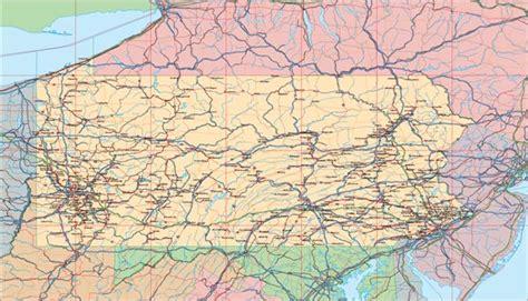 pennsylvania map usa us state illustrator eps vector map catalog detail map of